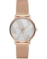 Armani Exchange - Lola Rose Gold Watch - Lyst