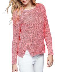 Gap - Cotton Marled Side Slits Sweater - Lyst
