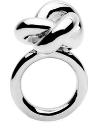 Amber Sceats - Big Knot Silver Ring - Lyst