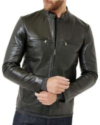 Ted Baker - Leather Jacket - Lyst