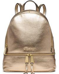 Michael Kors - Rhea Metallic Medium Backpack - Lyst