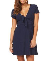 MINKPINK - Comfort Textured Tie Dress - Lyst