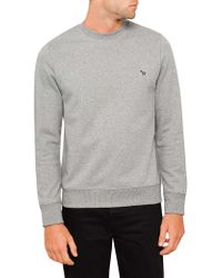 PS by Paul Smith - Organic Cotton Sweatshirt With Zebra Logo - Lyst