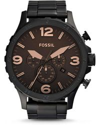 Fossil - Nate Black Watch - Lyst