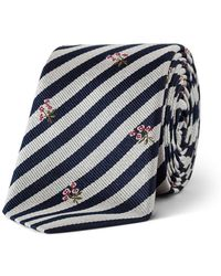 Paul Smith - Stripe Floral Tie - Lyst