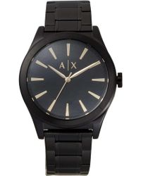 Armani Exchange - Nico Black Watch - Lyst