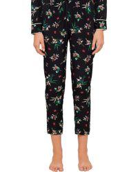 RED Valentino - Wallpaper Flower Print Silk Pyjama Trousers - Lyst