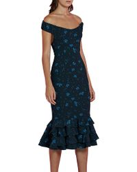 BY JOHNNY. - Empire Off Shoulder Frill Gown - Lyst