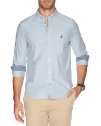 Nautica - Long Sleeve L Stripe Shirt - Lyst