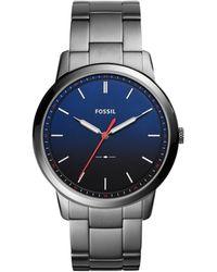 Fossil - The Minimalist 3h Grey Watch - Lyst