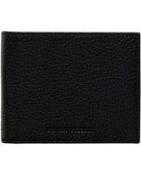 Emporio Armani - Linea Luxor Pebbled Leather 8cc Billfold Wallet - Lyst