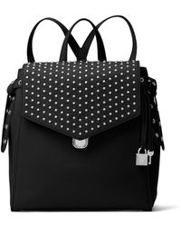 Michael Kors - Bristol Medium Studded Leather Backpack - Lyst