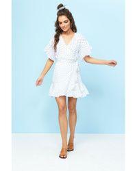 MINKPINK - Little Secret Wrap Dress - Lyst