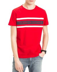 Tommy Hilfiger - Red Short Sleeved T-shirt - Lyst