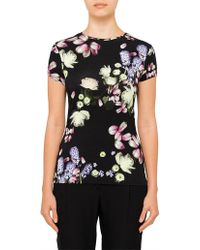 Ted Baker - Villeaw Kensington Floral Fitted Tee - Lyst