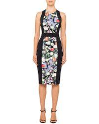 Ted Baker - Akva Kensington Floral Body Con Dress - Lyst