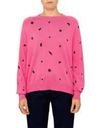 Paul Smith - Multi Emb All Over Crew Knit - Lyst