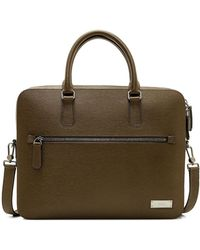 Bally - Leather Business Briefcase Bag - Lyst