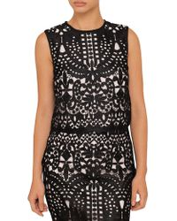 Ted Baker - Falisia Lace Contrasttrim Top - Lyst