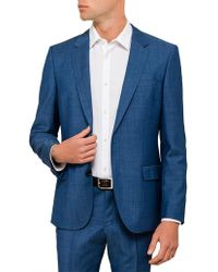 BOSS - Henry Wool Textured Neat Suit Jacket - Lyst