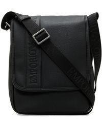 Emporio Armani - Embossed Stripe Crossbody Bag - Lyst