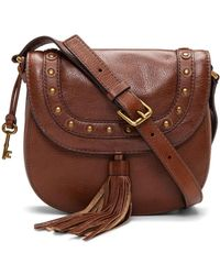Fossil - Emi Brown Crossbody - Lyst