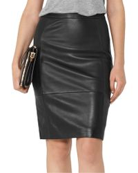 Reiss - Olivia-leather And Ponte Pencil Skirt - Lyst