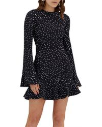 BY JOHNNY. - Issy Flute Mini Dress - Lyst