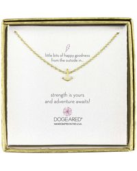 Dogeared - Mini Anchor Little Bits Of Happy Boxed Reminder Necklace - Lyst