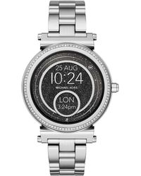 Michael Kors - Sofie Silver Smartwatch - Lyst