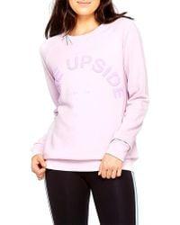 The Upside - Sid Cotton Jersey Sweatshirt - Lyst