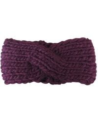Morgan Taylor - Chunky Knit Turban Headband - Lyst