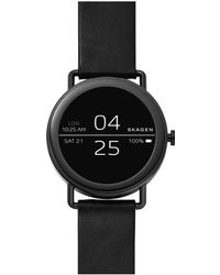 Skagen - Flaster Leather Smartwatch - Lyst