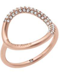Michael Kors - Rose Gold Ring - Lyst