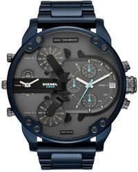 DIESEL - Chronograph Mr. Daddy 2.0 Blue Stainless Steel Bracelet Watch 57mm - Lyst