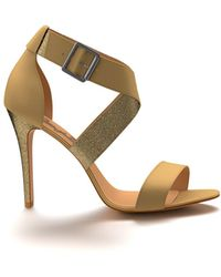 Shoes Of Prey - Heeled Cross Sandal - Lyst