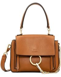 Chloé Mini Faye Day Leather Shoulder Bag - Brown