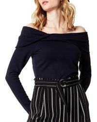 Karen Millen - Twisted Bardot Top - Lyst