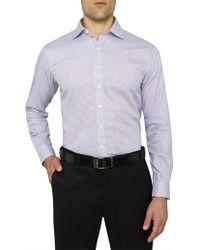 Van Heusen - Tattersall Check Euro Fit Shirt - Lyst