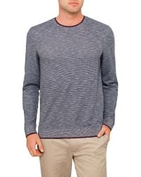 Ted Baker - Ls Space Dye Sweatshirt - Lyst