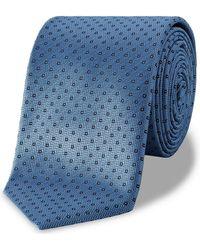 BOSS - 6cm Micro Chevron Neat Silk Tie - Lyst