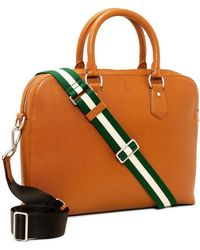 Polo Ralph Lauren - Pebbled Leather Brief Case - Lyst
