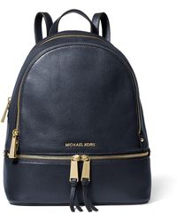 0df54f0df797 Michael Kors - Rhea Medium Leather Backpack - Lyst