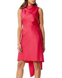 Karen Millen - Asymmetric Train Dress - Lyst
