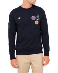 PS by Paul Smith - Applique Crew-neck Sweat - Lyst