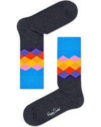 Happy Socks | Faded Diamond Sock | Lyst