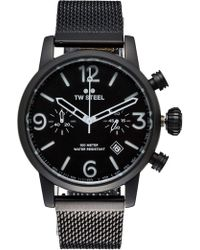 TW Steel - Maverick 45 Black Chrono Black Blet - Lyst