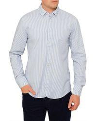 BOSS Orange - Customize Dobby Stripe Shirt - Lyst