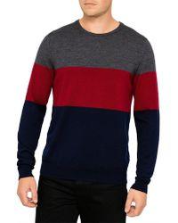 David Jones - Merino Block Stripe Pullover - Lyst
