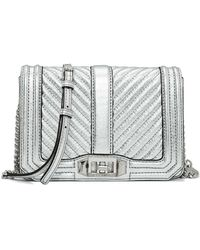 Rebecca Minkoff - Chevron Quilted Small Love Crossbody - Lyst